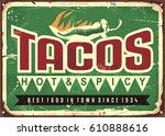 vector retro sign template for... | Shutterstock .eps vector #610888616