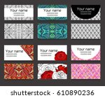 set of different horizontal ... | Shutterstock .eps vector #610890236