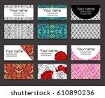 set of different horizontal ... | Shutterstock .eps vector #610890236