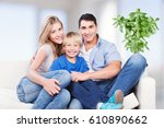 happy family. | Shutterstock . vector #610890662