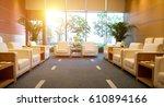 reception room in a hotel in... | Shutterstock . vector #610894166