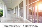 glass door of the office... | Shutterstock . vector #610894436