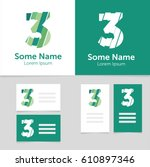 editable business card template ... | Shutterstock .eps vector #610897346