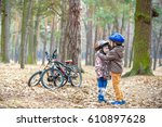 two brothers  preparing for... | Shutterstock . vector #610897628