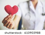 Red Heart In Nurse's Hands...