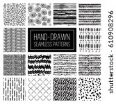 vector hand draw abstract... | Shutterstock .eps vector #610908296