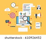flat design concepts for... | Shutterstock .eps vector #610926452