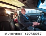 professional driver  a taxi... | Shutterstock . vector #610930052