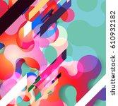 abstract vector raindrop card... | Shutterstock .eps vector #610932182