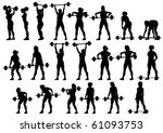 vector image of young athletic...   Shutterstock .eps vector #61093753
