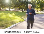 front view of senior man... | Shutterstock . vector #610944662