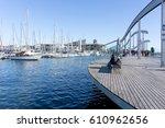 barcelona spain   february 9 ... | Shutterstock . vector #610962656