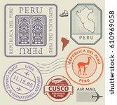 travel stamps or symbols set...   Shutterstock .eps vector #610969058