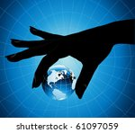 hand holding the earth | Shutterstock .eps vector #61097059