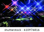 blurred background. mma fight... | Shutterstock . vector #610976816
