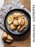 cottage cheese cookies | Shutterstock . vector #610980992