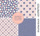 seamless patterns vector... | Shutterstock .eps vector #610987025
