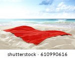 Towel On Hot Sand Of Free Spac...