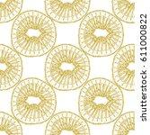 kiwi slices seamless pattern in ... | Shutterstock .eps vector #611000822