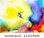 abstract watercolor painting... | Shutterstock . vector #611019836