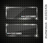 glass plates set. vector... | Shutterstock .eps vector #611021426