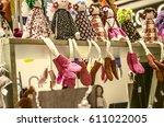 rag dolls souvenirs on fair... | Shutterstock . vector #611022005