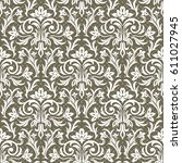 seamless floral pattern for... | Shutterstock .eps vector #611027945