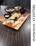 sushi | Shutterstock . vector #611037086