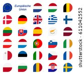 colors of eu member states... | Shutterstock .eps vector #611042552
