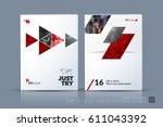 business vector template.... | Shutterstock .eps vector #611043392