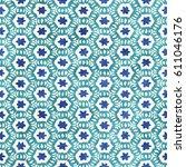 native batik watercolor... | Shutterstock . vector #611046176