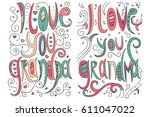 doodle illustration for... | Shutterstock .eps vector #611047022