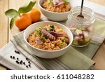 risotto with octopus  ... | Shutterstock . vector #611048282