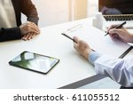 female doctor hand hold silver... | Shutterstock . vector #611055512