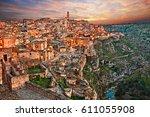matera  basilicata  italy ...   Shutterstock . vector #611055908