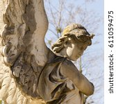 Old Monument Of Angel At...