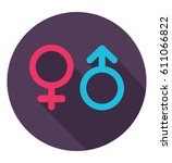gender icon in trendy flat... | Shutterstock .eps vector #611066822