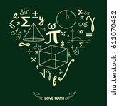 mathematical symbols vector | Shutterstock .eps vector #611070482