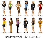 group of women | Shutterstock .eps vector #61108183