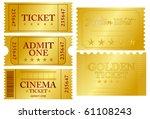 various golden ticket set ... | Shutterstock .eps vector #61108243