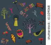 autumn park background | Shutterstock .eps vector #61109068