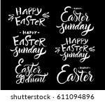 vector illustration. lettering. ... | Shutterstock .eps vector #611094896