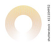 abstract ring of dots. halftone ... | Shutterstock .eps vector #611104952
