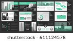 creative set of abstract... | Shutterstock .eps vector #611124578