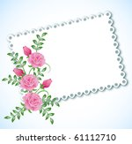 cloth with lace edges for... | Shutterstock .eps vector #61112710