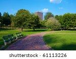 boston public garden in...   Shutterstock . vector #61113226