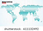 abstract halftone world map.... | Shutterstock .eps vector #611132492