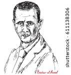 bashar hafez al assad ... | Shutterstock .eps vector #611138306