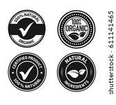 organic natural ingredients... | Shutterstock .eps vector #611141465