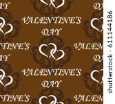 valentine's day  the human...   Shutterstock .eps vector #611144186